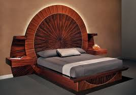 wood bed frame with round unique bed frames generva