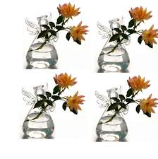 new hanging glass air plant flower vase angle shape terrarium flat