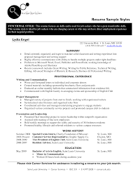 Resume Transferable Skills Examples by Resume Styles Examples
