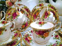vintage tea sets teapots and tea cups cake stand land
