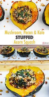 pecan kale stuffed acorn squash recipe fall