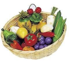 fruit and vegetable basket wooden fruit vegetables basket blueberry forest