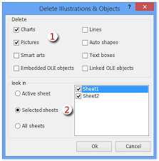 how to select all objects pictures and charts easily in excel