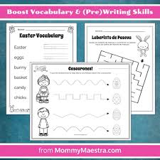 mommy maestra bilingual easter themed activity pages for preschool