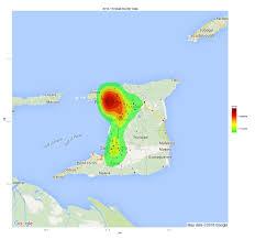 Trinidad Map Trinidad Murder Heatmap Trinituner Com
