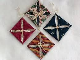 311 best folded fabric ornaments images on