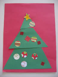 Arts And Crafts Christmas Tree - christmas tree craft no time for flash cards