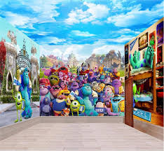 popular monsters university wall buy cheap monsters university 3d wallpaper custom photo non woven picture monster university 3d wall murals wallpaper for wall