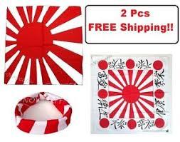 japanese headband 2 bandanas japanese flag rising sun kamikaze japan headband frank