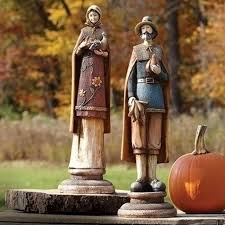 thanksgiving figures 16 2 pilgrim at harvest time decorative thanksgiving