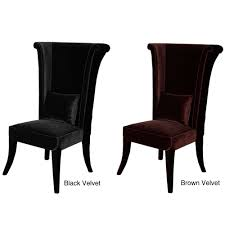 velvet high back chair 13109893 overstock shopping great with high