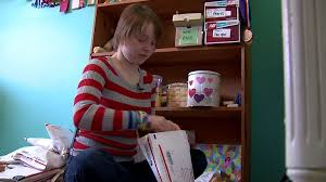 care package for sick person girl makes a difference in the lives of sick children with