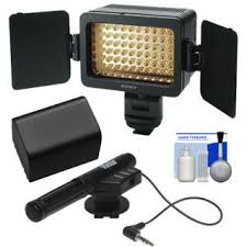 sony hvl le1 handycam camcorder light video lighting 312 dimmable led camera light led camcorder light led