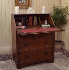 oak writing bureau furniture lovely vintage oak writing bureau desk laptop linenfold home