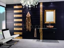 Feature Wall Bathroom Ideas Black And Gold Bathroom Salon Pinterest Gold Bathroom