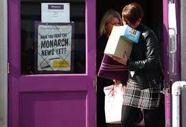monarch almost 1 900 jobs cut bbc news