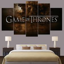 game of thrones home decor home decor game of thrones hot movie logo canvas wall art frame