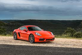 wallpaper porsche 2017 718 cayman s red cars metallic