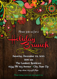 christmas brunch invitations items similar to paisley wood brunch paisley