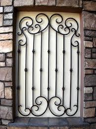decorative wrought iron window bars iron