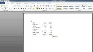 how to convert an excel 2010 spreadsheet to a word document youtube