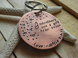 godparent keychain gift for godparents gift for