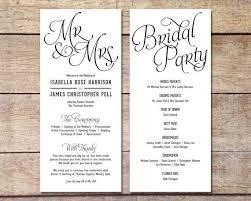 classic wedding programs simple wedding program customizable design simple