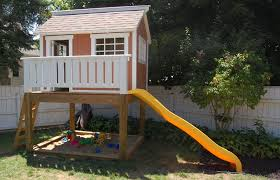 Backyard Playhouse Ideas Outdoor Playhouse Plans Backyard Clubhouse For Home