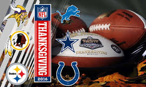 2016 nfl thanksgiving day schedule tv channels live