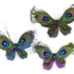 easy crafts peacock feather butterfly ornament tierra este
