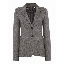 dalmine herringbone tweed blazer black max mara womens jackets