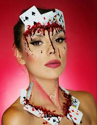 bloody halloween makeup ideas halloween makeup poker and makeup