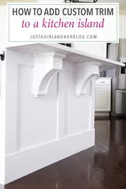 how do you attach island cabinets to the floor how to add custom trim to a kitchen island abby lawson