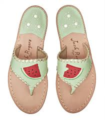 jack rogers exclusive watermelon sandal in green lyst