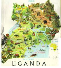 Map East Africa by Detailed Travel Map Of Uganda Uganda Detailed Travel Map East