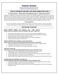 Resume For Welder Job by Welding Resume Haadyaooverbayresort Com