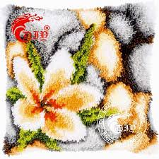 Vervaco Latch Hook Rug Kits 3d Latch Hook Pillow Kits The Orchid Flowers Diy Needlework