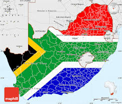 africa map color flag simple map of south africa single color outside borders and