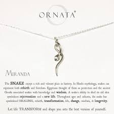 sterling silver personalized jewelry sterling silver lucky charm snake necklace w personalized name