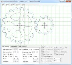 Woodworking Design Software Freeware by Gear Template Generator Program