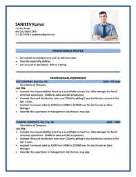 format for resume format of resume resume templates