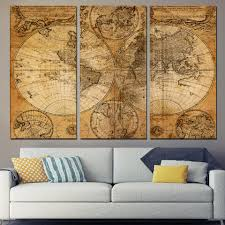 World Map Canvas Online Buy Wholesale 3 Piece World Map Canvas From China 3 Piece