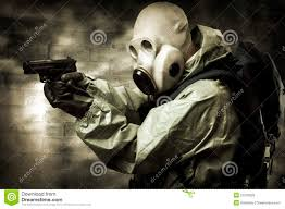Halloween Costumes With Gas Mask by Portrait Of Person In Gas Mask Royalty Free Stock Photos Image
