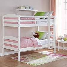 Amazoncom EasytoConvert To Twin Bed Practical Space Saver Wood - Space saver bunk beds