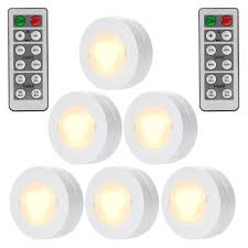 lights kitchen cabinets battery operated wireless led puck lights closet lights battery operated with remote kitchen cabinet lighting wireless 4000k white 6 pack