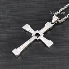 cross pendant necklace silver images Real 925 sterling silver jewelry fast and furious 8 dominic jpg