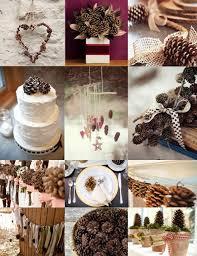 pine cone decoration ideas winter wedding pine cone wedding decoration ideas 2057887