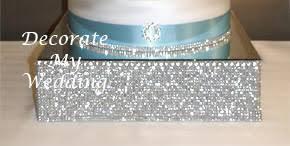 rhinestone cake stand decorate my wedding square rhinestone cake stage