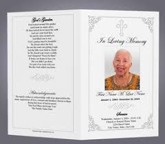 100 funeral program templates free life single fold memorial