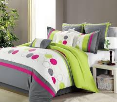 Green And Gray Comforter Clearance 8pc Luxury Bedding Set Lydia Lime Green White Gray